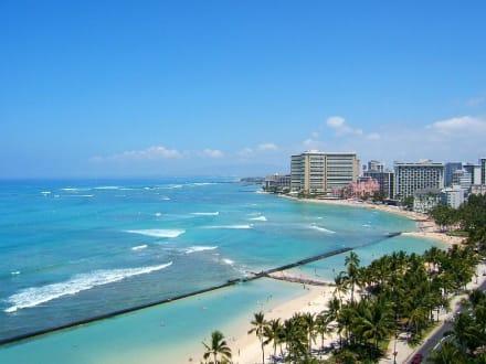 Blick auf Waikiki Beach - Strand Waikiki Beach