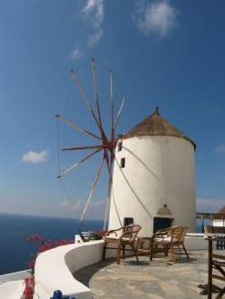 Windmühle in Oia - Windmühlen