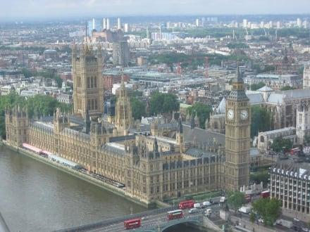 Blick vom London Eye auf Big Ben - Big Ben