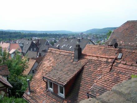 blick von oben - Landgrafenschloss Marburg