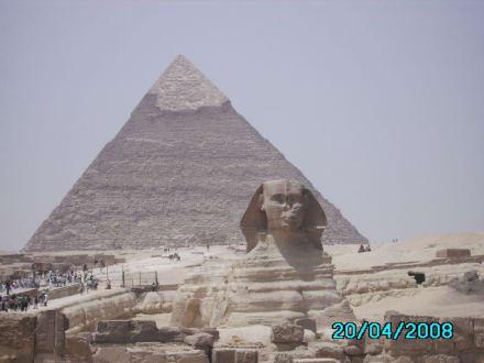 Sphinx und Pyramiden - Pyramiden von Gizeh