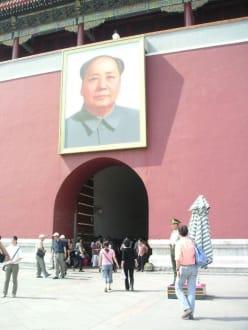 Mao vor der verbotenen Stadt - Verbotene Stadt/Kaiserpalast