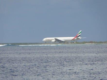 Start auf der Flughafeninsel - Lankan Manta Point