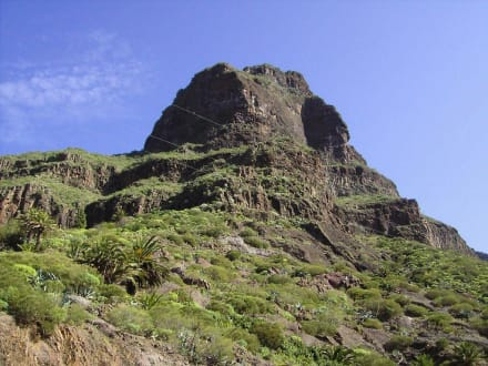 Der Berg im Hintergrung - Masca Schlucht (geschlossen)
