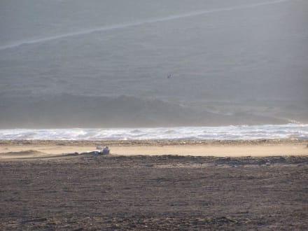 und wieder die tosende Brandung der Ägäis - Strand Prasonissi