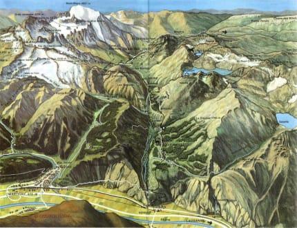 Orientierungskarte - Vallée du Trient