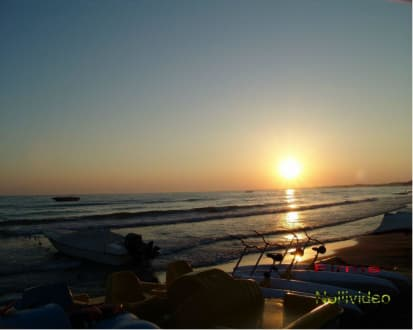 Sonnenuntergang in Side - Strand Side