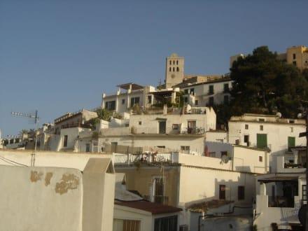 Häuser typisch in Ibiza - Altstadt Dalt Vila Ibiza