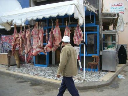 Fleischverkauf im Orient - Zentrum Hurghada