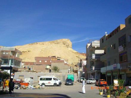 Merkwürdiger Fels im Hintergrund - Zentrum Hurghada