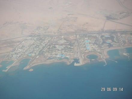 Bild aus dem Flugzeug - Wüste