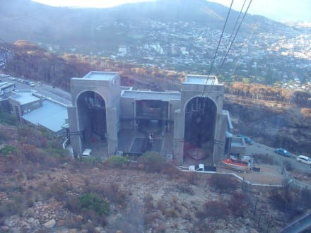 Die Talstation von oben gesehen - Tafelberg