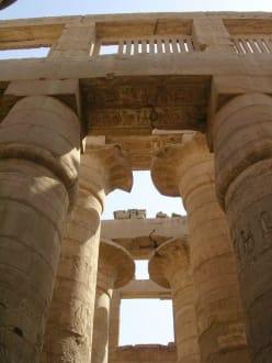 Die Säulenhalle in Detail - Amonstempel Karnak