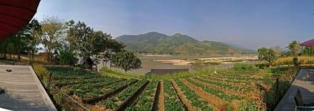 Panorama 180° vom Mekong - Saeng Arun