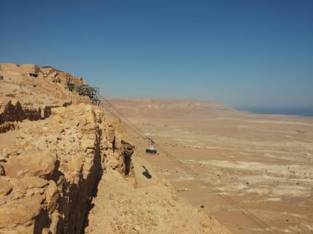Seilbahn mit Bergstation,Nationalpark Masada - Masada