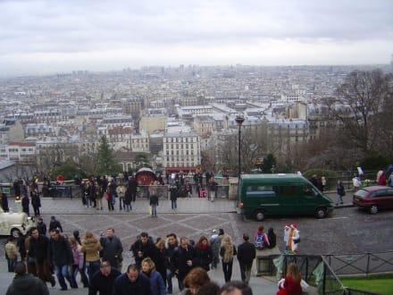 Der Blick von Sacre Coeur nach unten - Sacre Coeur