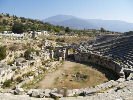 Blick in das Amphietheater - Ausflug nach Xanthos