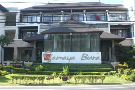 Von der Gegenüberliegenden Straßenseite aus - Samaya Bura Resort