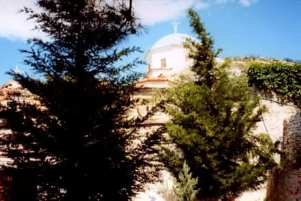 Ansicht des Timou Stavrou vom Parkplatz - Kloster Timou Stavrou