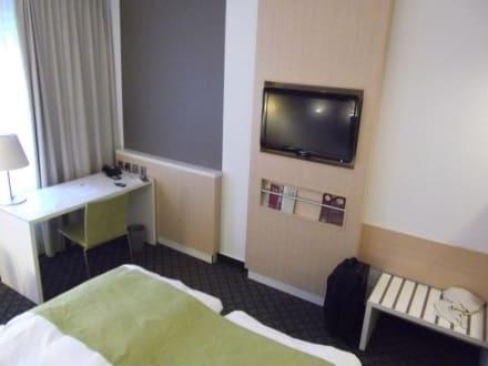 fernseher in wand integriert bild mercure hotel severinshof k ln city in k ln nordrhein. Black Bedroom Furniture Sets. Home Design Ideas