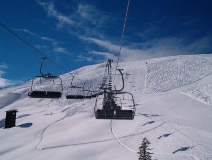 Morgens um 8:50 ist die Skiwelt noch in Ordnung. - Skigebiet Saalbach