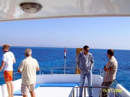 Auf dem Schiff - Ausflug mit Mohamed