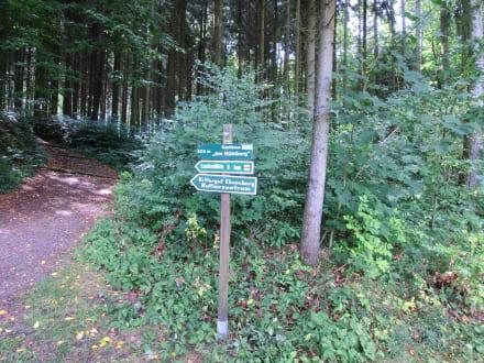 Wanderwege an der Burg - Burg Kriebstein