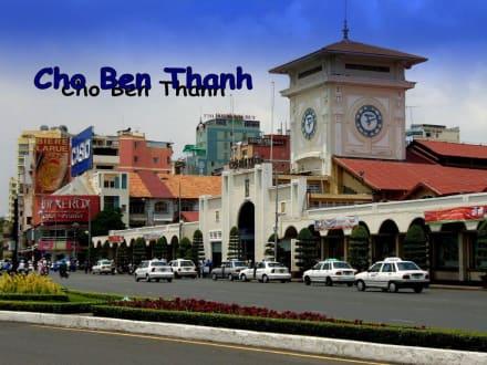 Hauptfront des Zentralmarktes - Ben-Thanh-Markt