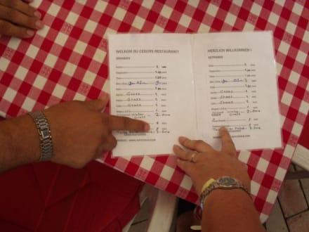 Nach Reklamation gabs dann doch eine Preisliste! - Restaurant Turan