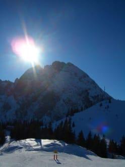 Blick vom Zwieselalm- Ausstieg auf den Donnerkogel - Skigebiet Gerlos