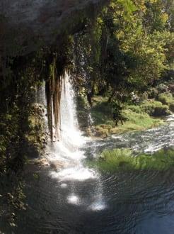 An den Oberen Düden Wasserfällen - Oberer Düden Wasserfall