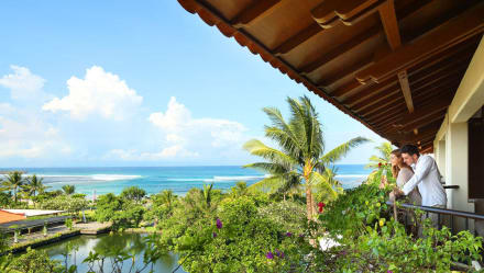 Ocean View from the room's balcony -