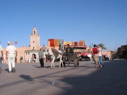 der leere Platz der Gaukler am Vormittag - Place Djemaa el Fna