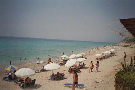 Strand von Agios Nikitas auf Insel Lefkada - Strand Aghios Nikitas
