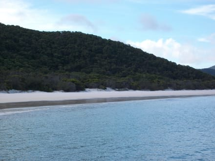 Whiteheaven beach without sun - Whitsunday Islands