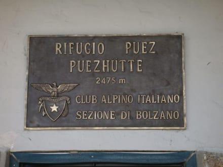 3,5 Stunden von Wolkenstein - Puez-Hütte
