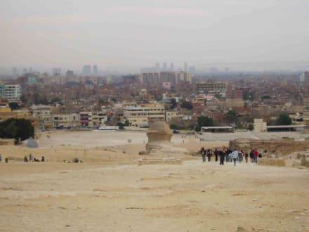Blick auf Kairo - Sphinx von Gizeh