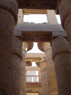 im Säulensaal - Amonstempel Karnak