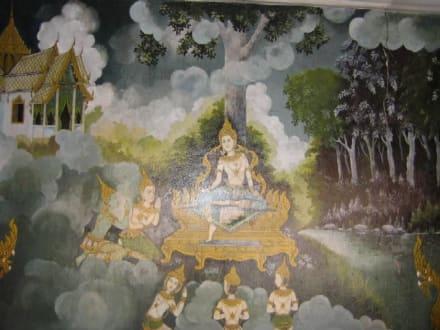 Wandmalerei mit der Geschichte von Buda. - Wat Phrathat Doi Suthep