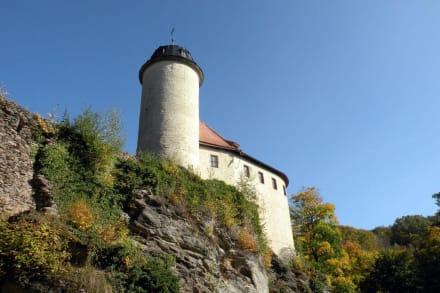 Außenansicht aus dem Park - Burg Rabenstein