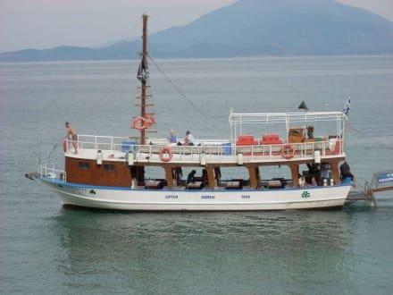 Fahrt mit Captain Andreas nach Samiopoula - Insel Samiopoula