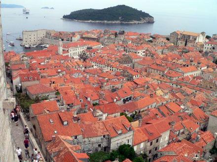 Blick auf Dubrovnik von der Befestigungsmauer - Altstadt Dubrovnik