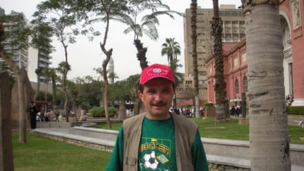 Maik vorm Ägyptischen Museum - Ägyptisches Nationalmuseum