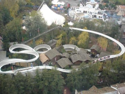 Europapark von oben - Europa-Park
