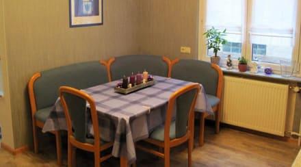 Sitzecke küche ferienwohnung aurora