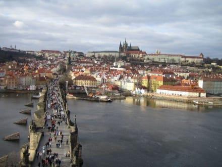 Blick über die Moldau - Prager Burg / Hradschin