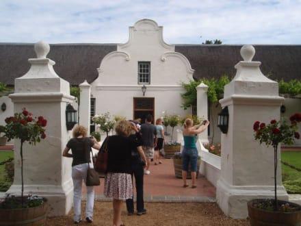 3. und letzte Weinprobe der Tour - Weingebiet Stellenbosch