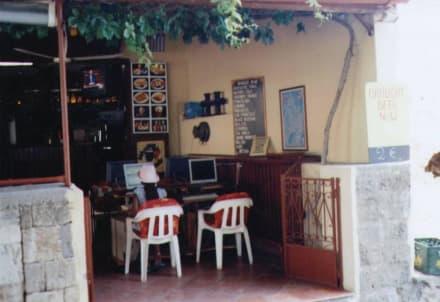 Internetcafé auf griechisch - Altstadt Rhodos Stadt