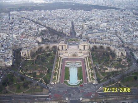 Ausblick vom Eiffelturm - Trocadero