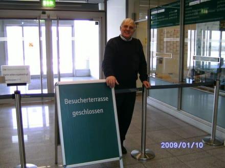 Besucherrasse an diesem Tag leider geschlossen! - Flughafen Düsseldorf (DUS)